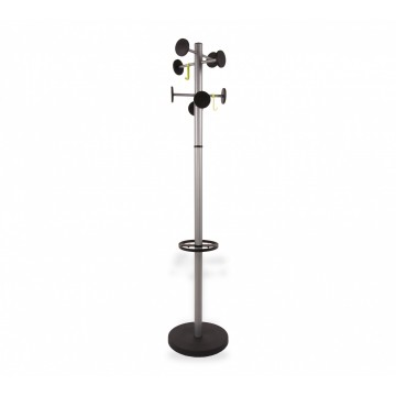 ALBA STAN3 8 Peg Coat Stand with umbrella holder
