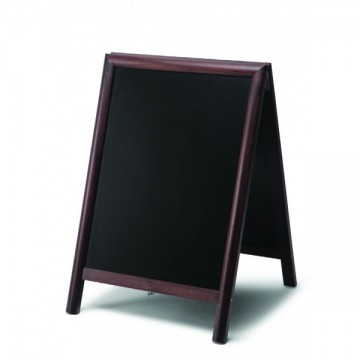 Chalkboard A Frame Pavement Sign round profile - Dark Brown