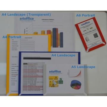 A3 Magnetic Portrait Document Pockets (5 pack)