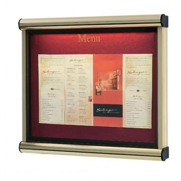 Premium Menu Display Case Illuminated