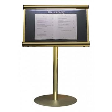 Illuminated Stand Mounted Menu Display Case