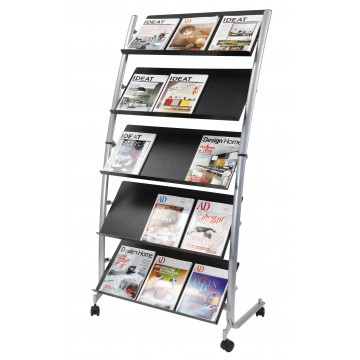 Alba DD5GM Mobile Floor Stand Doc Display 3x A4 - 5 TIER