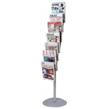 Alba Chrome Floor Stand Document Display A4 7 Tier E4office