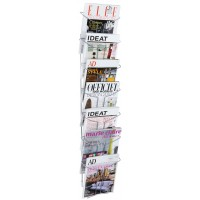 Alba Chrome Wall Document Display A4 (7 TIER)