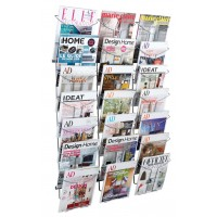 Alba Chrome Wall Document Display A4 (21 TIER)