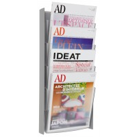 Alba DDPROGMM Wall mounted literature Display A4 GREY