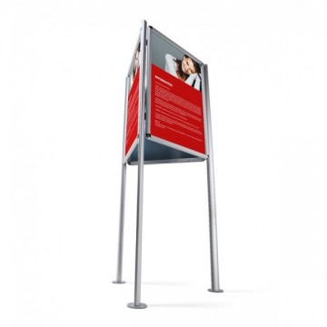Triboard 3 sided Poster Display stand For Indoor and Outdoor applications